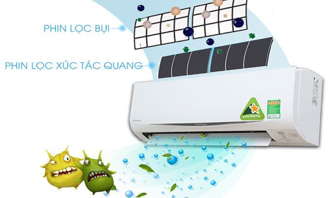 Máy lạnh Daikin FTKC25RVMV 1HP kháng khuẩn
