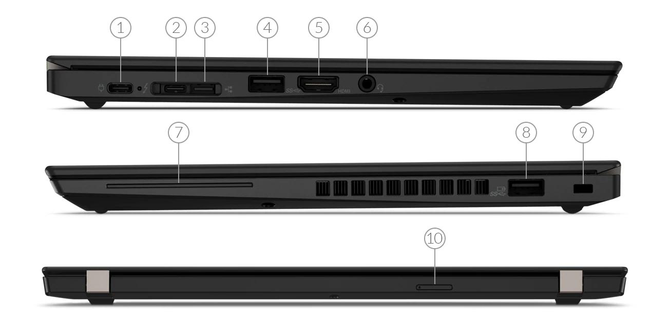 Lenovo ThinkPad X390 Port View