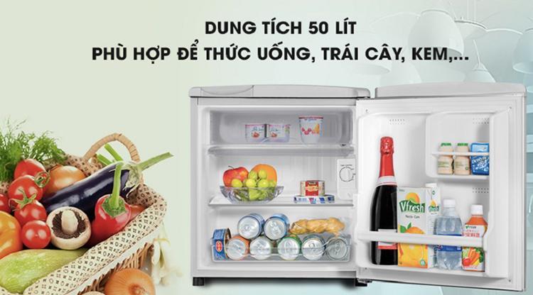 Tủ lạnh Aqua 50 lít AQR-55ER (SS)
