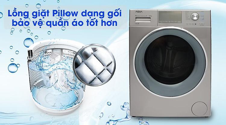 Lồng giặt Pillow - Máy giặt Aqua Inverter 9.5 kg AQD-DD950E S