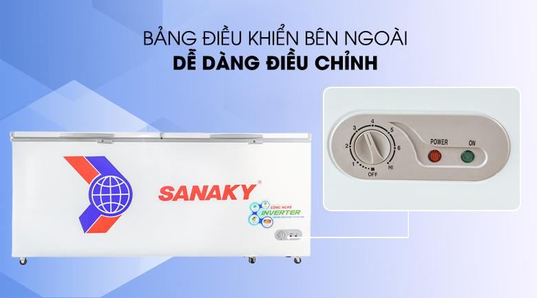 Bảng điều khiển bên ngoài - Tủ đông Sanaky VH-8699HY3