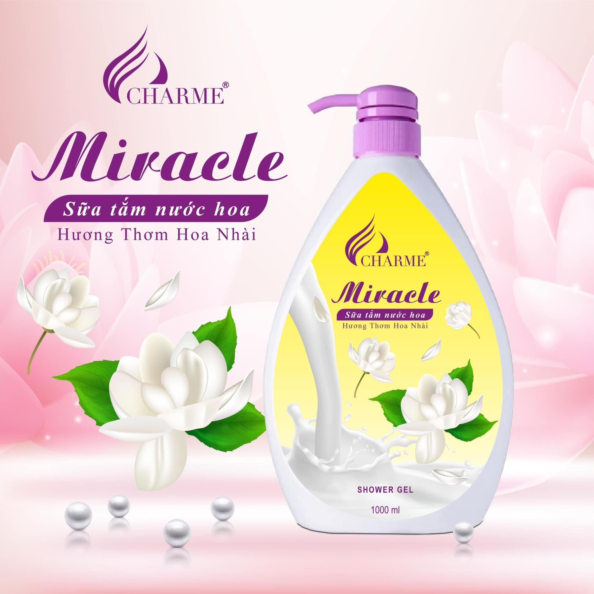 Sữa Tắm Nước Hoa Charme Miracle 1000ml Cho Nữ Hương Hoa Nhài