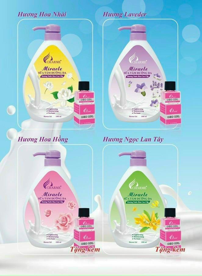 Sữa Tắm Nước Hoa Charme Miracle 1000ml Cho Nữ Chính Hãng