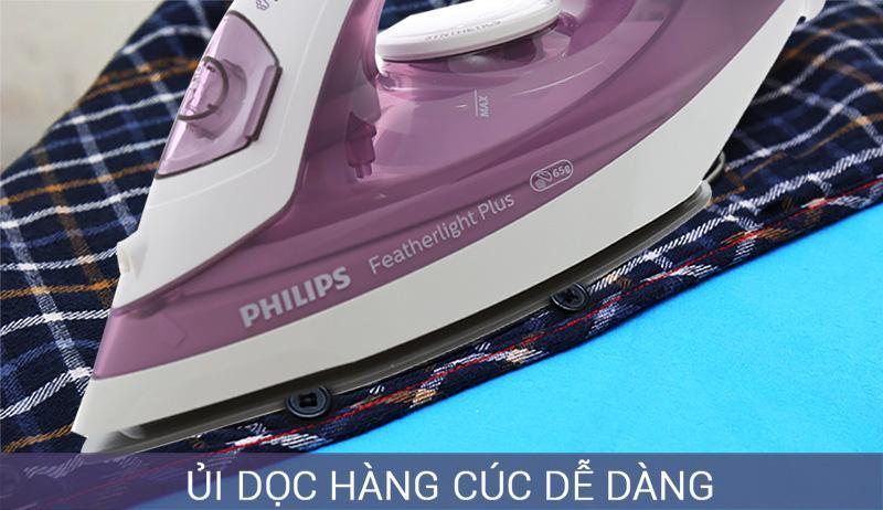 Rãnh cúc - Bàn ủi hơi nước Philips GC1426/37 Tím