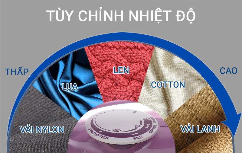 Tùy chỉnh nhiệt độ - Bàn ủi hơi nước Philips GC1426/37 Tím