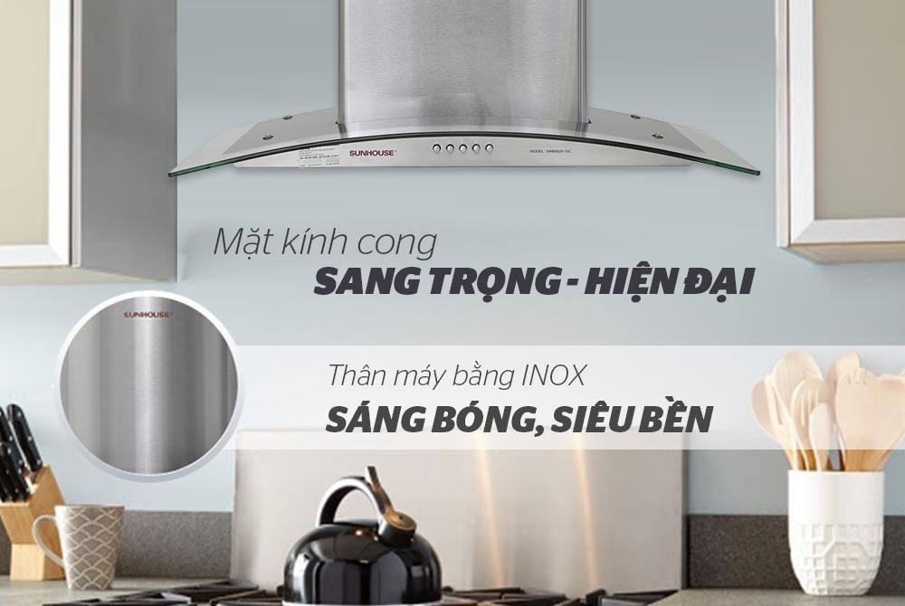 MÁY HÚT MÙI KÍNH CONG SUNHOUSE SHB6629-70C 2