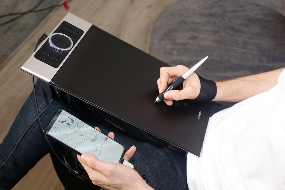 Bảng vẽ điện tử XP-Pen Deco Pro có thể dùng với thiết bị di động: điện thoại, máy tính bảng Android