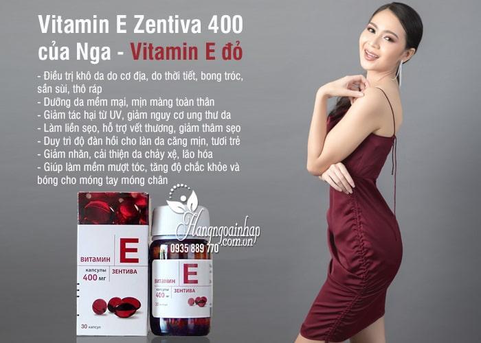 Vitamin E Zentiva 400 của Nga - Vitamin E đỏ chống lão hóa 2