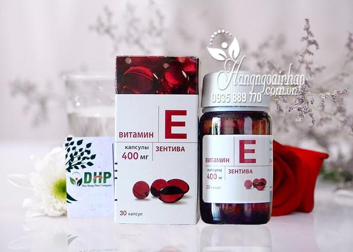 Vitamin E Zentiva 400 của Nga - Vitamin E đỏ chống lão hóa 4