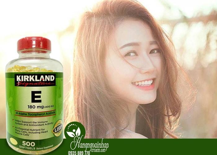 Vitamin E Thiên Nhiên 400 I.U Kirkland Signature 500 Viên Của Mỹ 1